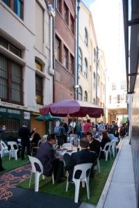 Lunchtime in Burnett Lane, Brisbane